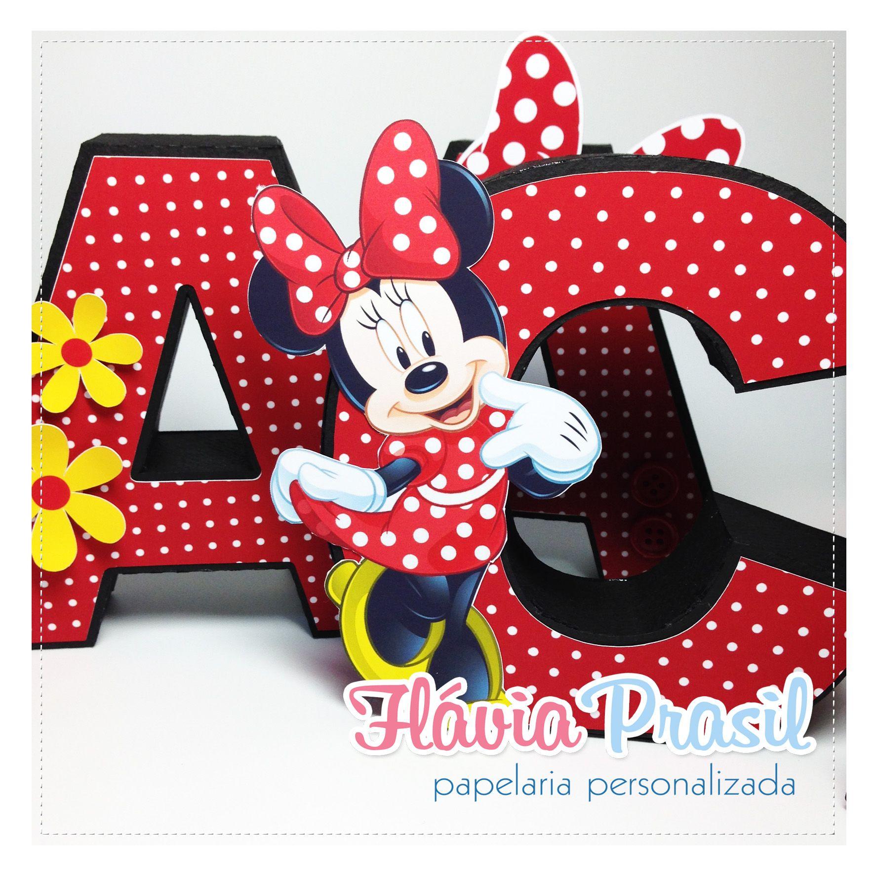 Letras 3D Minnie