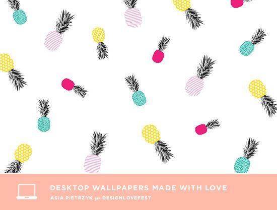 Summery Pineapples Pineapple Wallpaper Free Desktop Wallpaper Iphone Wallpaper