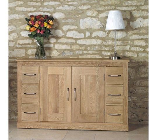 baumhaus mobel oak six drawer sideboard style our home 407 styleourhome com