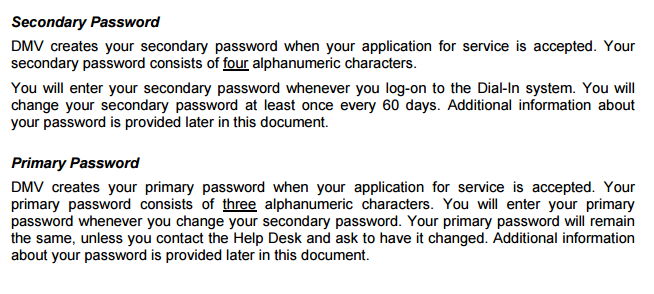DmvNyGov Why Use One Long Password When You Can Have Two Short