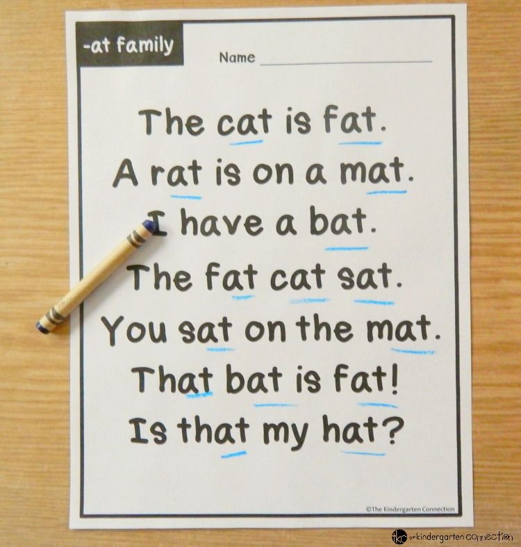 Photo of Word Family Fluency Passages for Early Readers in Kindergarten