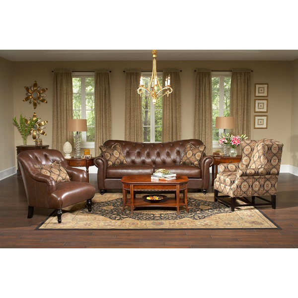 Stationary Leather Living Room Group | Brianu0027s Furniture