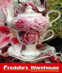 Absolutely gorgeous. Fine Bone China, English Rose Tea Set for one.