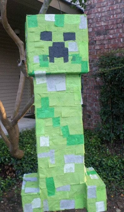 Minecraft Party Creeper Pinata by UncleBucksPartyStuff on Etsy, $34.00