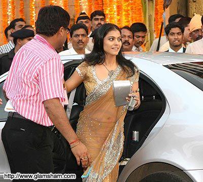 Actress Kajol Arrives At The Wedding Of Aishwarya Abhishek Bachchan