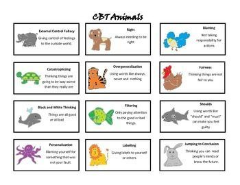 cognitive distortions worksheet kids - Google Search | CBT ...