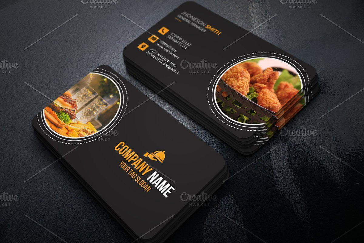 Restaurant Business Card Restaurant Business Cards Food Business Card Business Cards Creative Templates