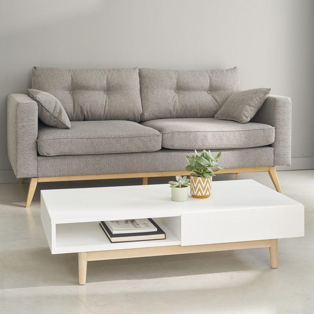 Skandinavisches 3 Sitzer Sofa Brooke Table Basse Style Scandinave Canape Maison Du Monde Table Basse