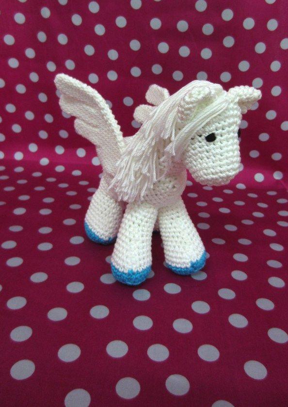 Pegaso Amigurumi - patrón gratis   amigurumi horses and unicorns ...