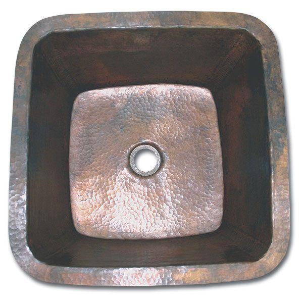 Linkasink Kitchen Sinks C006 Copper Small Square Prep Sink 2 Sink Copper Farmhouse Sinks Copper