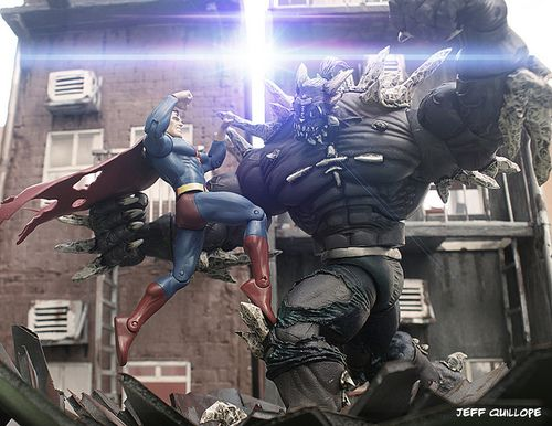 jeffquillope:  I will survive. on Flickr. Superman versus Doomsday