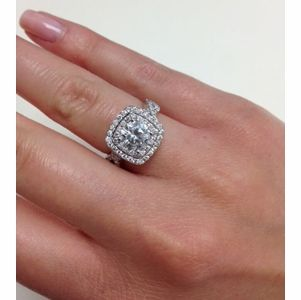 Twisted Split Shank Double Halo Engagement Ring In 2018 Realistic