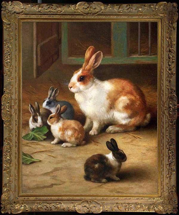 Old Master Art Antique Wildlife Animal Oil Painting
