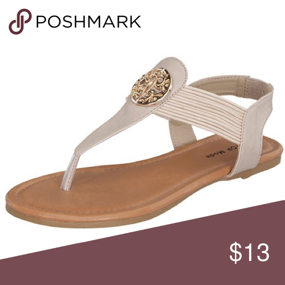 Ladies Beige Strap Ankle Sandals Ladies beige ankle strap sandals. True to size, comfortable, perfect for summer  Shoes Sandals