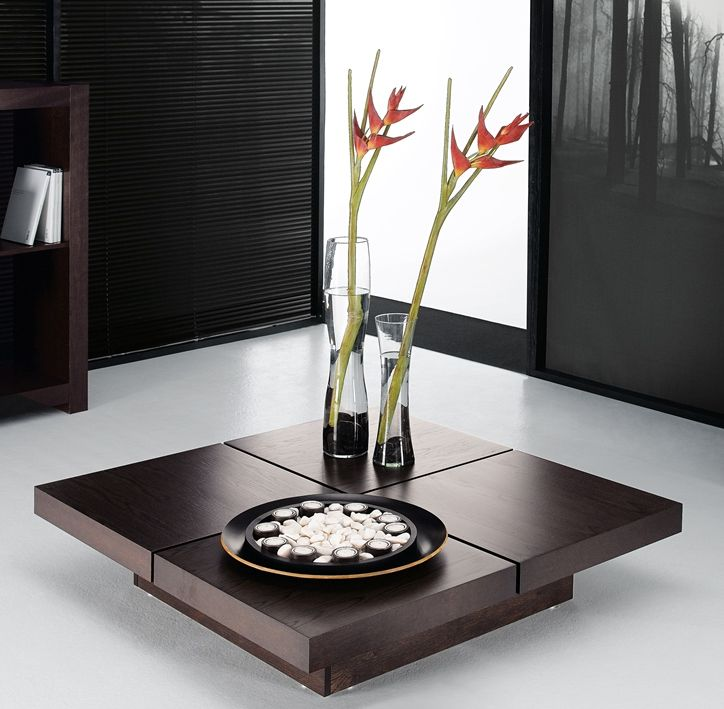 Modern 4 Tops Kyoto Coffee Table In Chocolate, By Temahome Http://www