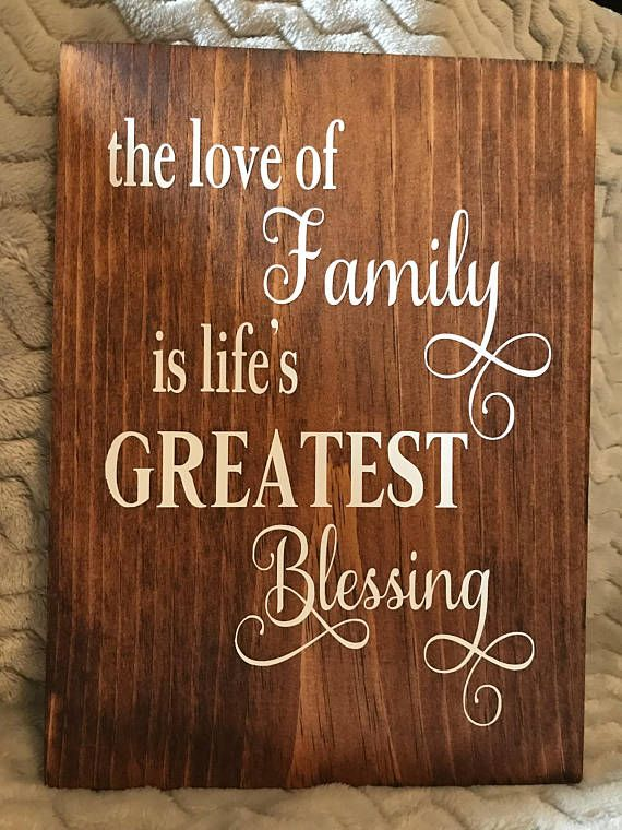 Download The Love of Family Is Lifes Greatest Blessing Wood Sign ...