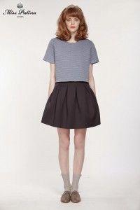 Uptown Skirt(Navy) (1)