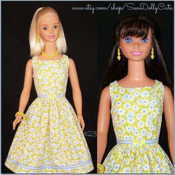 My Size BARBIE Frozen ELSA ANNA Doll Yellow Daisy by SewDollyCute