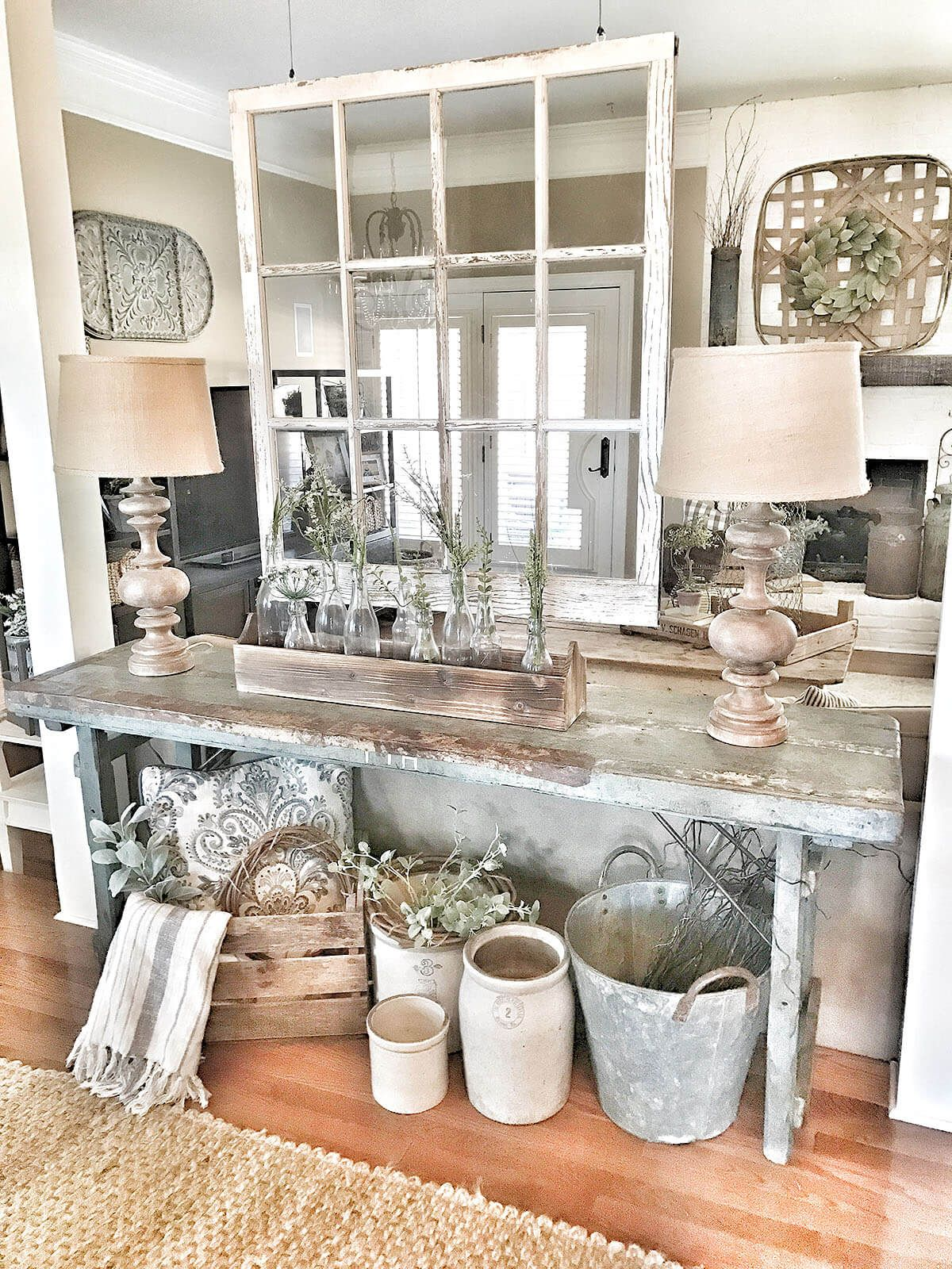 Country Florist Rustic Sofa Table Farm House Decor In 2019