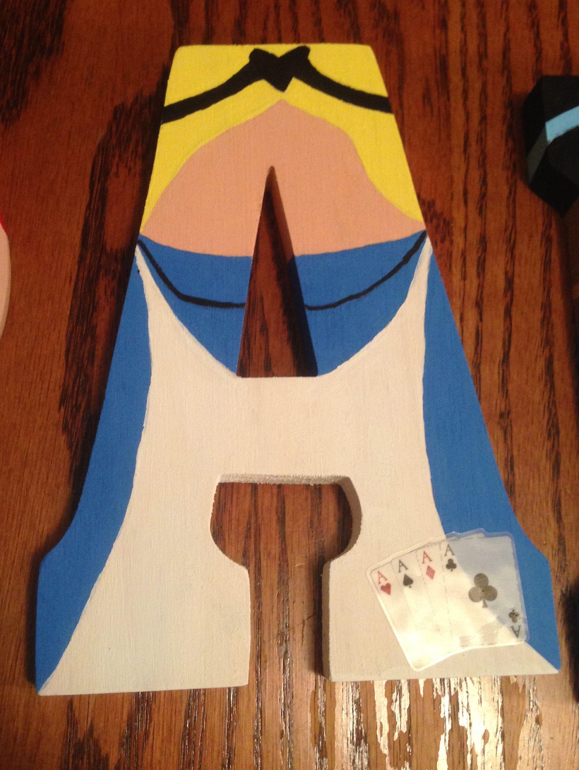 Alice From Alice In Wonderland A Disney Letter Art