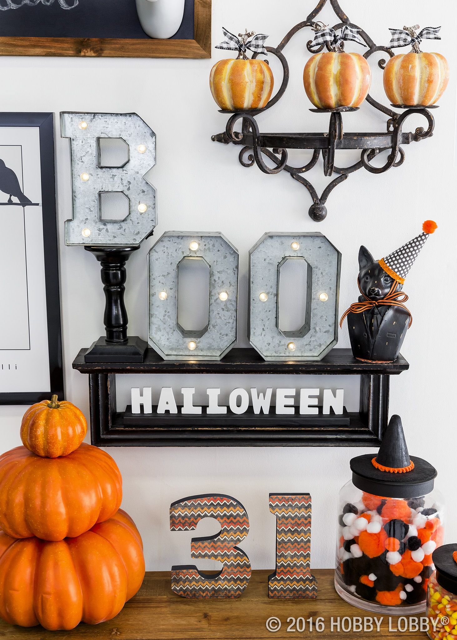 Take your Halloween decor to the next level! Just add a bit of