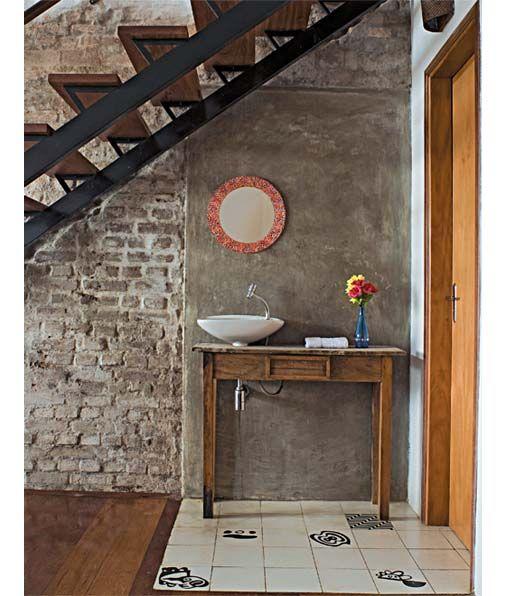 Inspiração para banheiros e lavabos rústicos! Bath and Interiors - lavabos rusticos