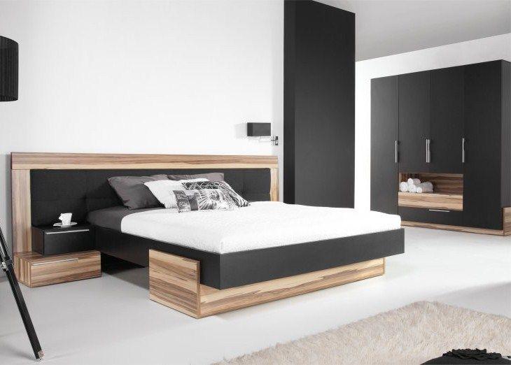 Lit armoire black meubles pour chambre coucher for Design japonais mobilier