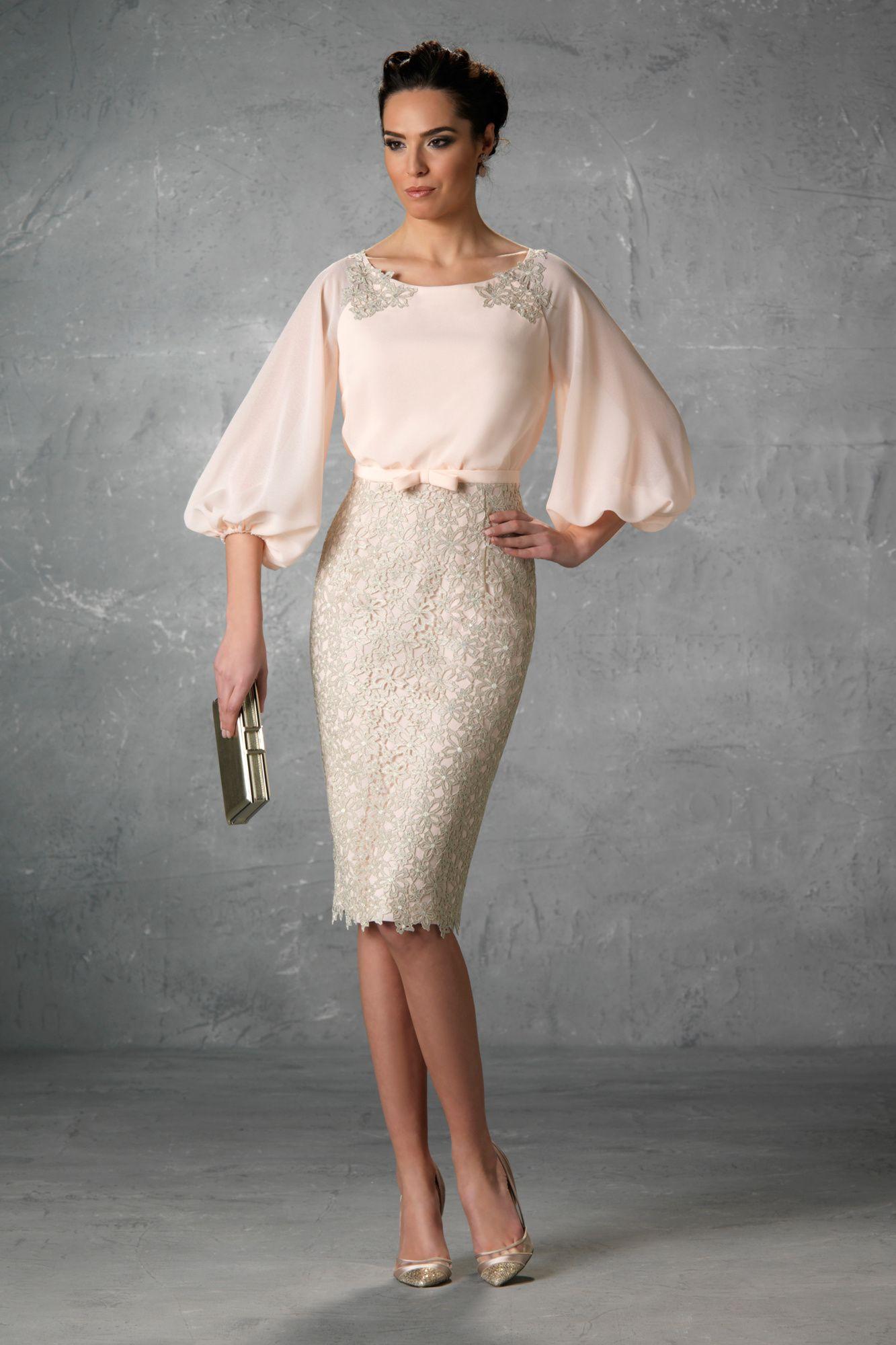 a1326abdb69c Rafaello 2018. Modelo Jaina. Vestido corto para madrina de boda