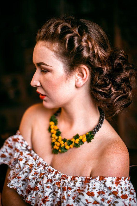 Necklace Cloudberry Wedding necklace Bib necklace от SweetRose68