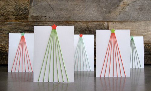 Nifty Little Idea For Homemade DIY Christmas Cards Continue On To See The Tutorial Video Craftology Tree Line Holiday With Paige Russell From