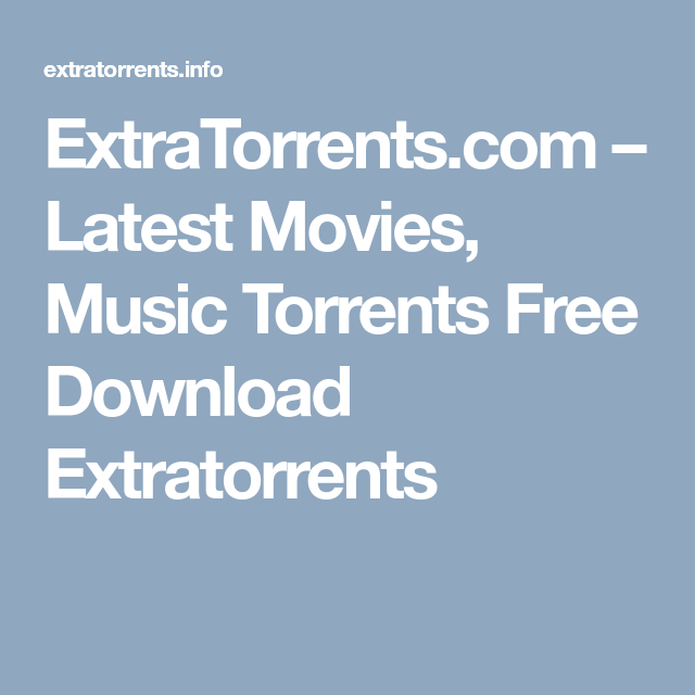 extra torrents movies