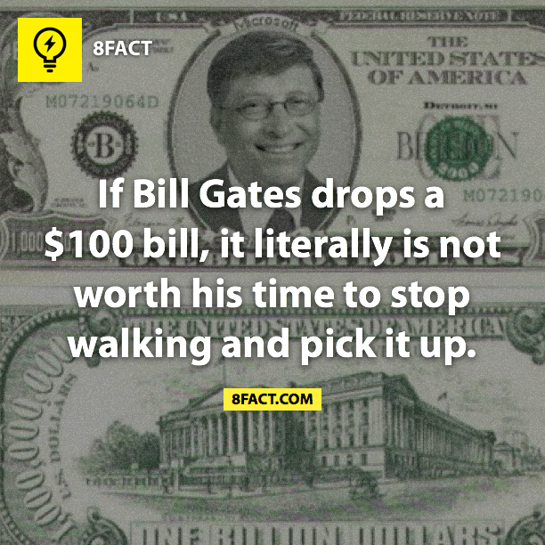 Must be nice!! Maybe I'll be walking behind him one day when $100 falls out of his wallet. :)