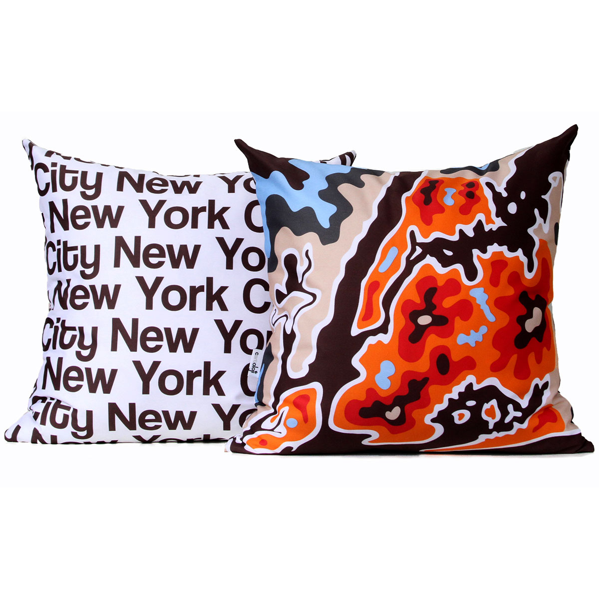 New York City Map Pillows