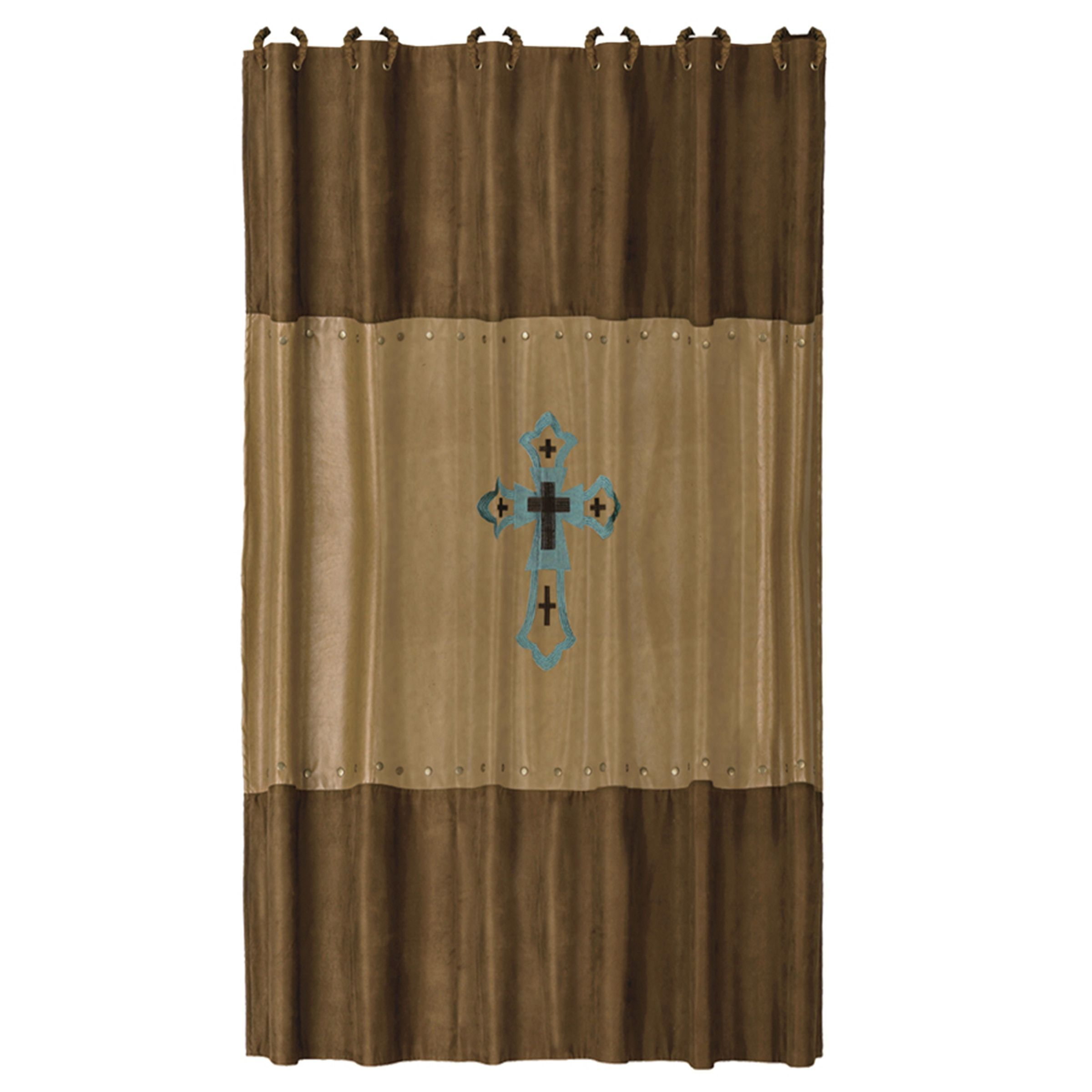 Hiend accents las cruses embroidered shower curtain x