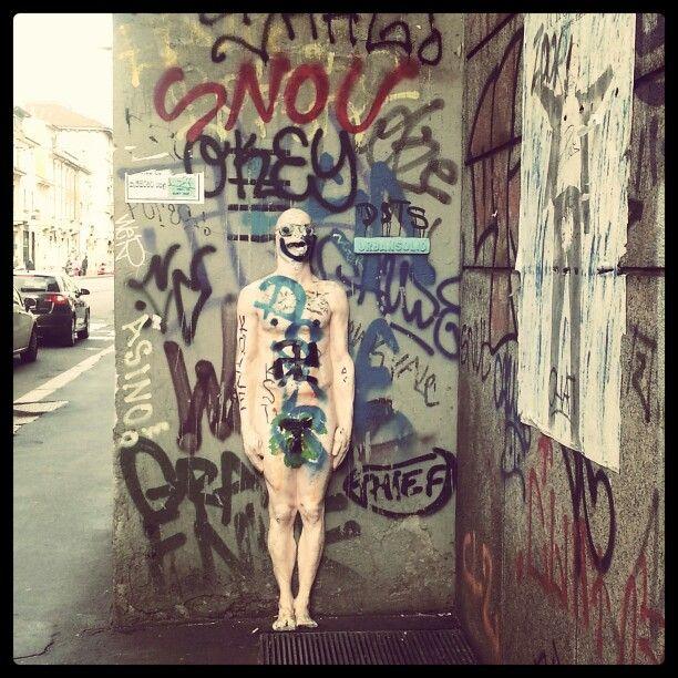 Street nudist art