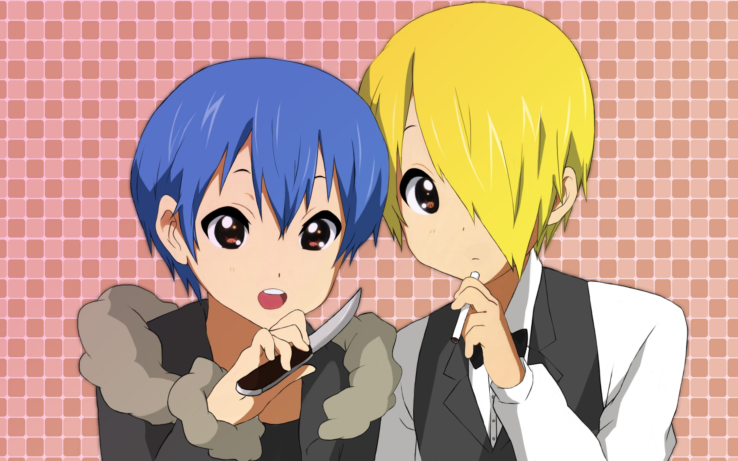 SOUMA AND SATOU AS IZAYA AND SHIZUO. THEY ALSO HAVE THE