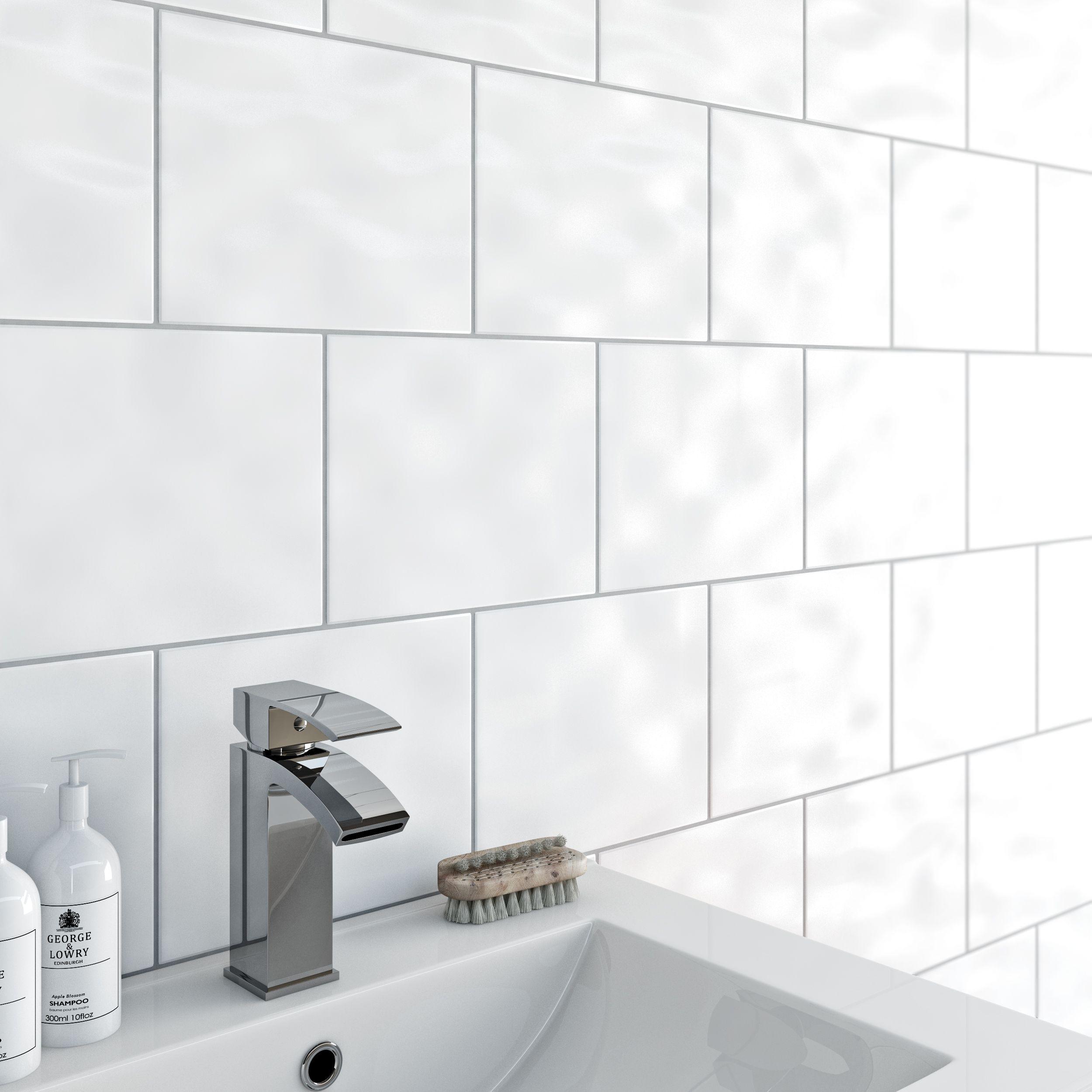 Clarity bumpy white gloss tile 200mm x 250mm | Pinterest | Wall ...