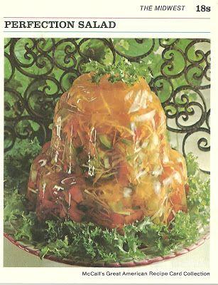 De perfecte salade, wederom in gelatine