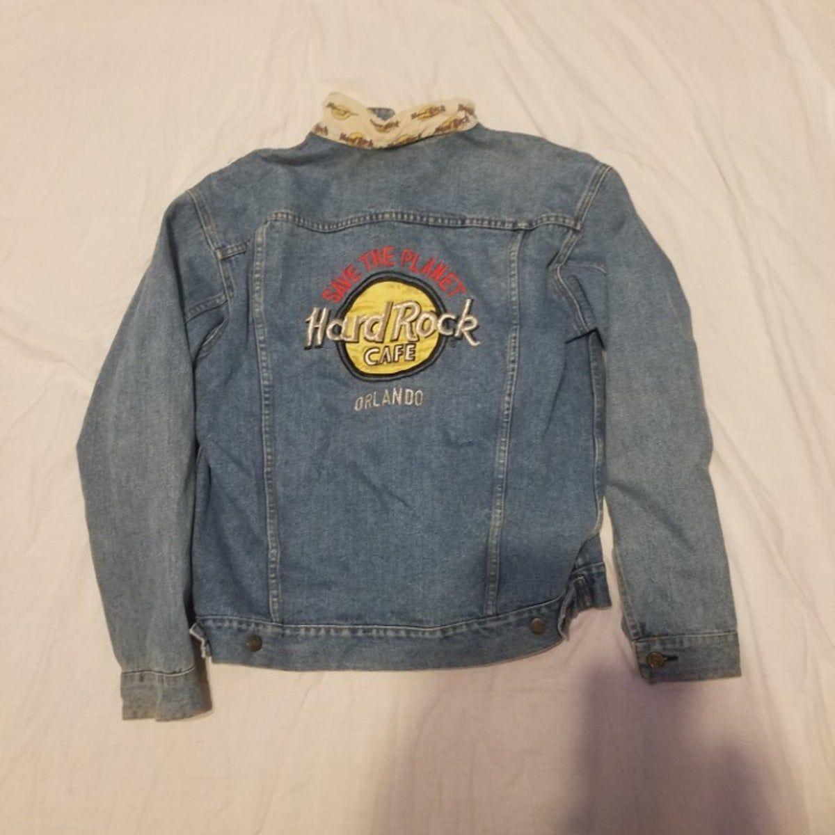 Vintage Hard Rock Cafe Denim Jacket Jackets Denim Jacket Hard Rock Cafe [ 1200 x 1200 Pixel ]