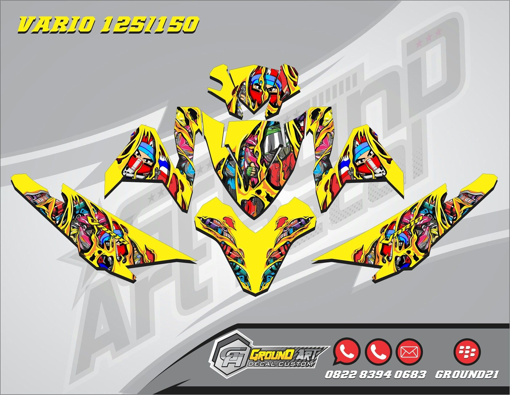 Custom decal honda vario