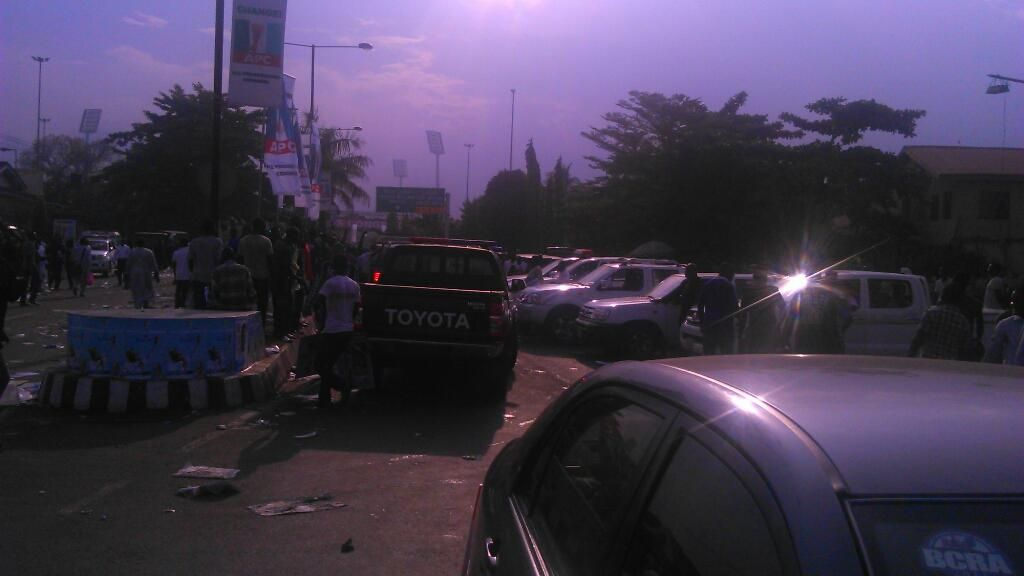 The number of urchins that chased Buhari's convoy as he left says a lot about stomach infrastructure...