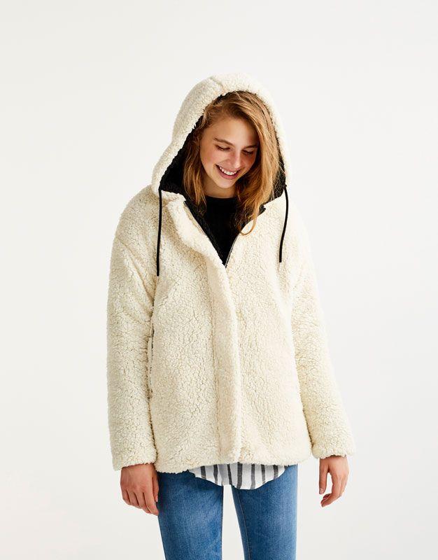 Abrigo de ante y borrego mujer