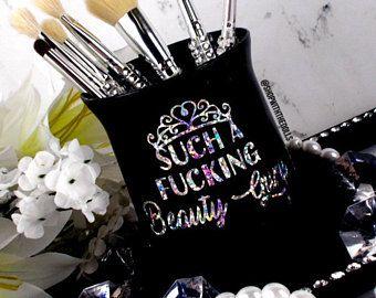 makeup brush holder glam vanity gift for her vanity