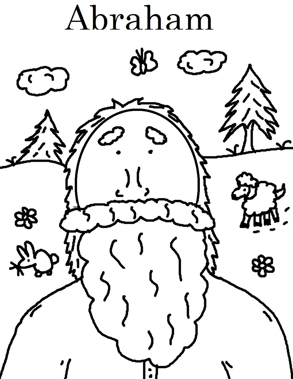 abraham coloring pagesjpg 10191319 pixels - Abraham Coloring Pages