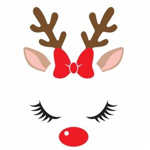 Pin On Christmas Reindeer Vector