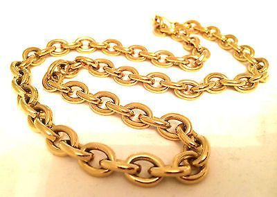 Monet Vintage Jewelry Golden Chain Necklace Gold Plated Authentic collectible