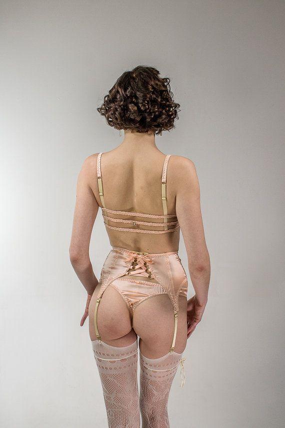 7cafb229af3bd Helen Valk Varavin Astrild: Silk Satin Garter Belt. Waspie lingerie thong  https:/