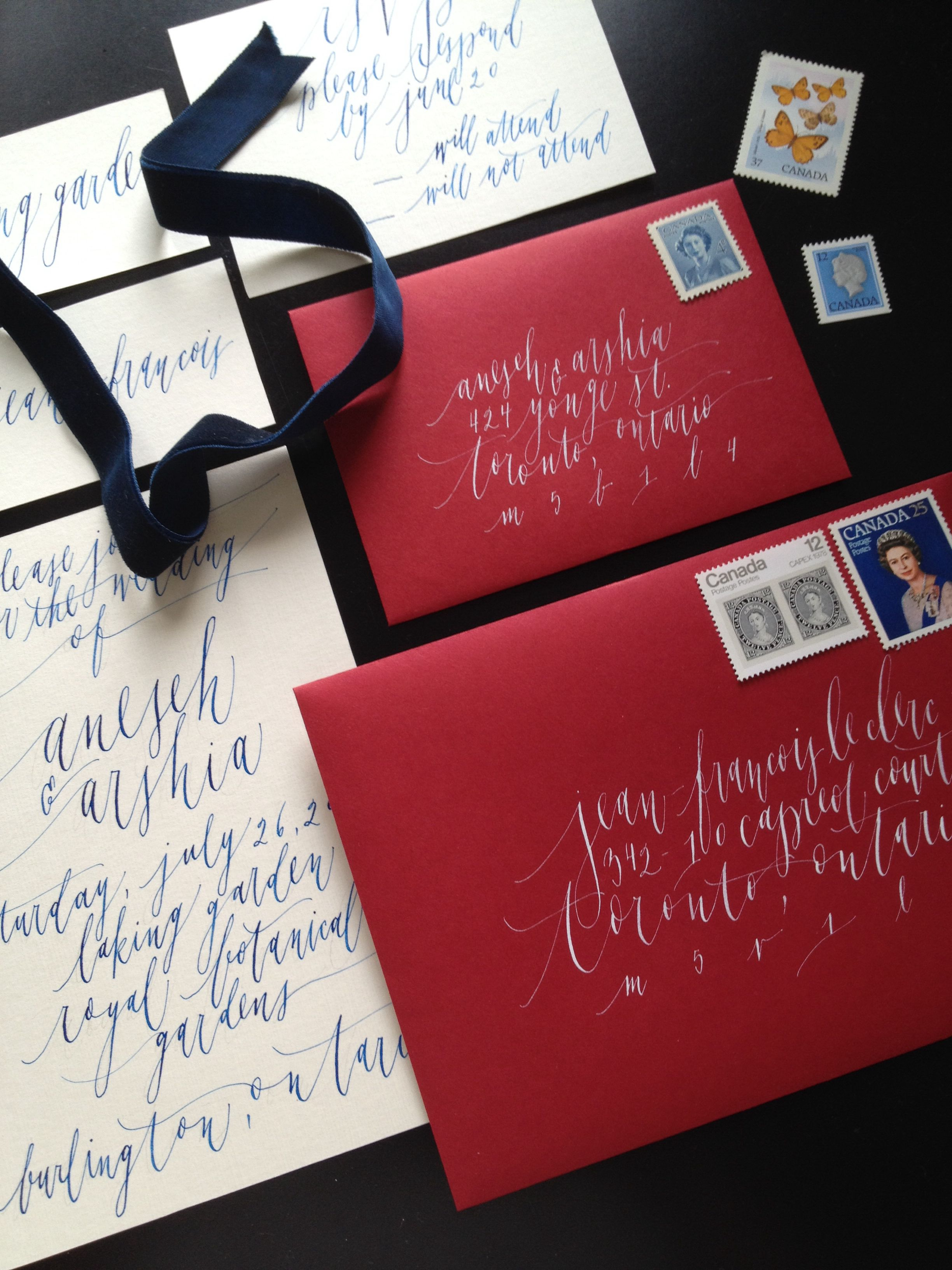 Love the calligraphy & color. NOT RED ENVELOPE | Heather.Patrick ...