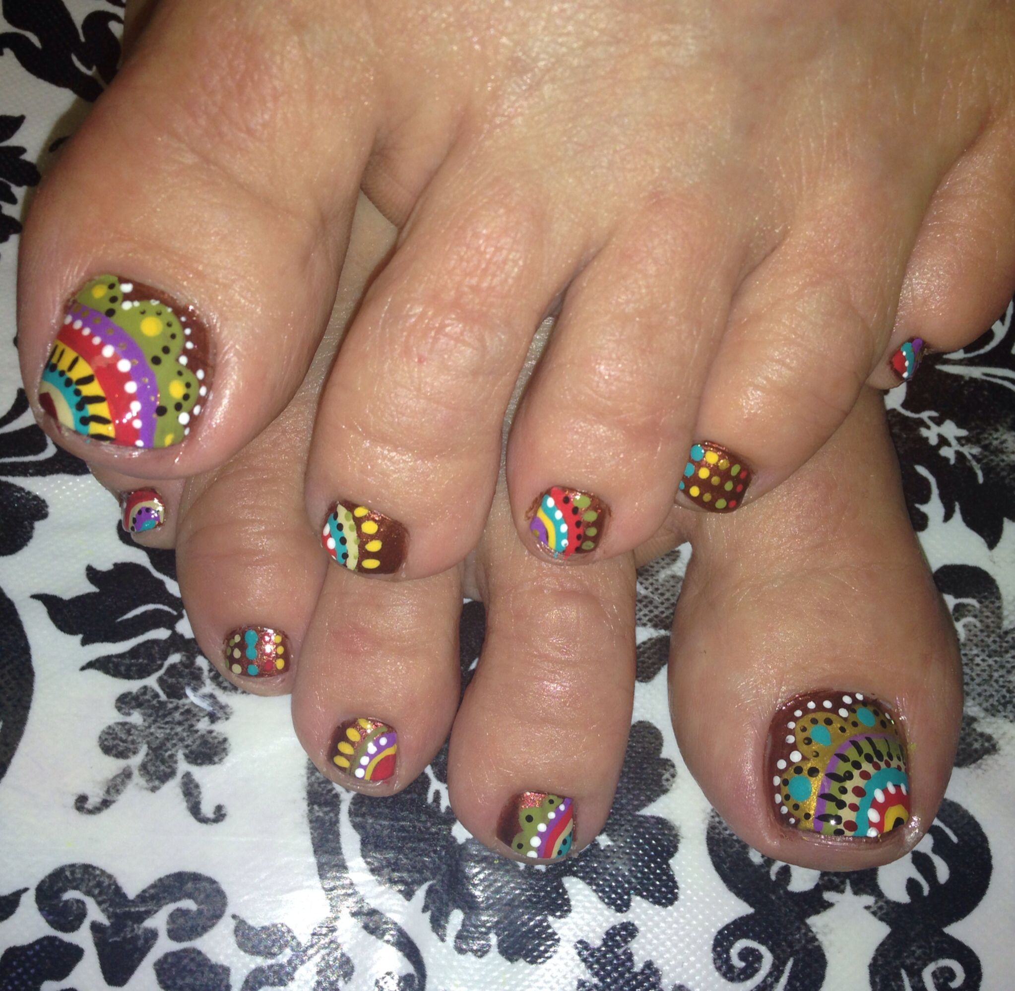 Fall colors Nail Art | Nail art | Pinterest | Color nails, Mani pedi ...