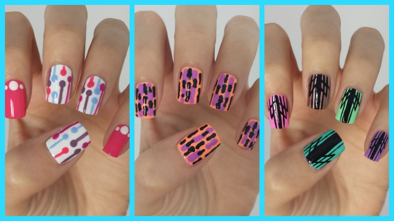 Easy nail art for beginners 10i like the first nail design easy nail art for beginners 10i like the first nail design nailspiration pinterest easy nail art beginner nail art and nail art videos baditri Gallery